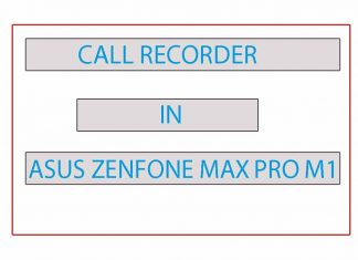 CALL RECORDER IN ASUS ZENFONE MAX PRO M1